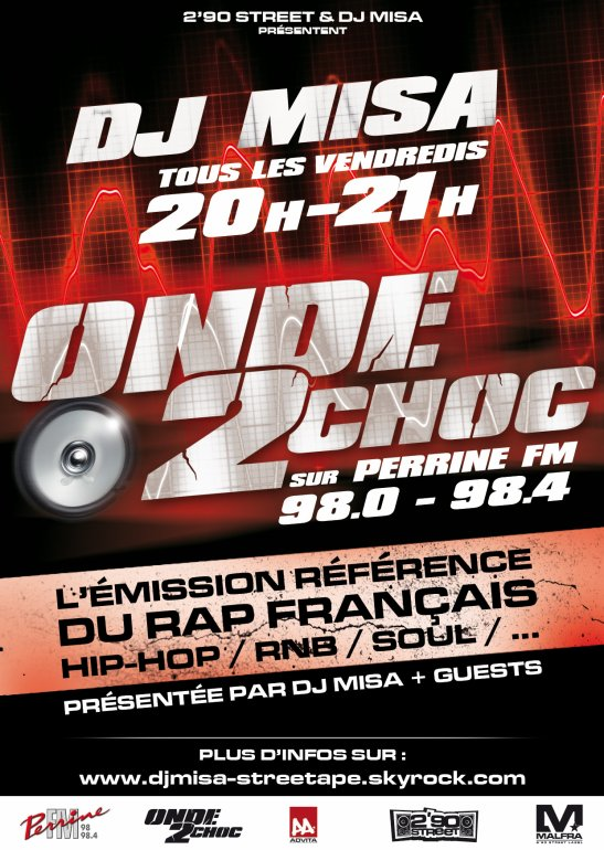 Dj Misa Presente Onde 2 Choc radio Tous Les Vendredis De 20h a 21h Sur Perrine FM (98.0 & 98.0)