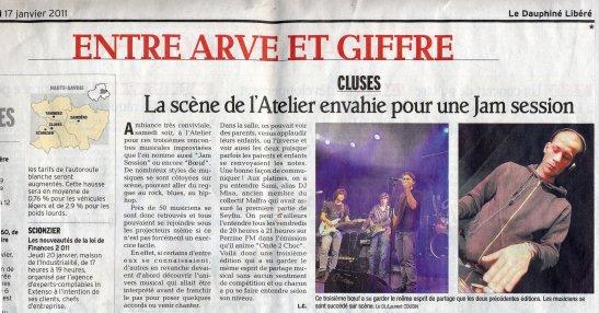 Cluses (74) a L'atelier Le 17.01.2011 (Jam Session)