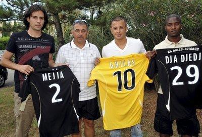 Mejia ,Ghilas et Djadjedje qui signe a l'ACA