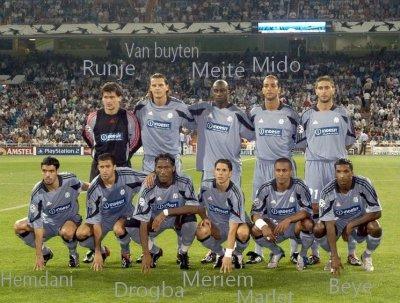 Meriem dans l'equipe de marseille de 2004 en ligue des champions face au real