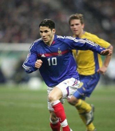 Meriem avec l'equipe de France face a la Suede