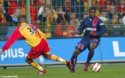 Franck Dja Djedje sous le maillot du PSG face a Lens