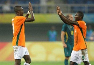 Dja Djédjé avec la Cote d'Ivoire au Jeux Olympiques