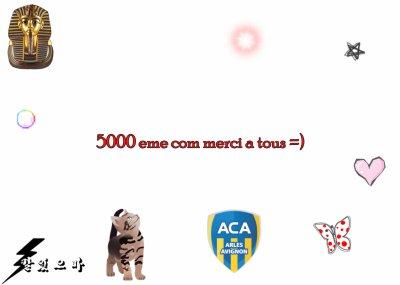 5000 eme vrais com's du blog merci a tous