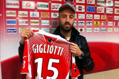 David Gigliotti transferer a l'AC Ajaccio (15 eme de ligue 1)