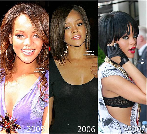 En attendant les news ...  Voici les coupes de Rihanna portés ses dernières années , laquelle préfére-tu/détéste tu ?.