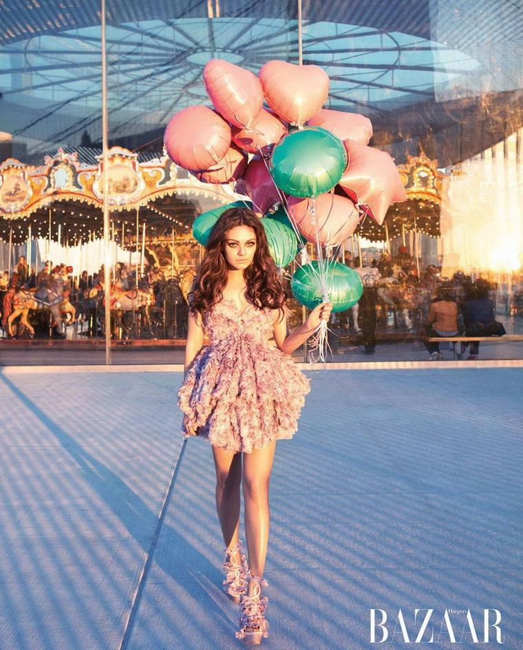 Mila Kunis for Harper's Bazaar US April 2012