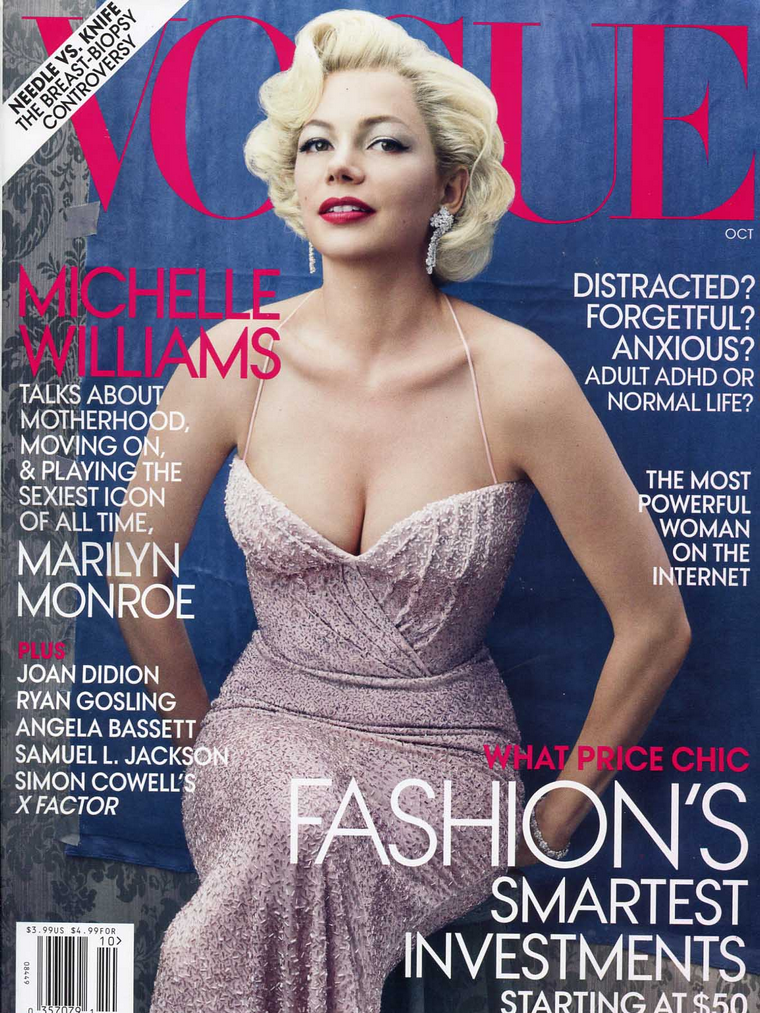 Michelle Williams for Vogue USA October 2011