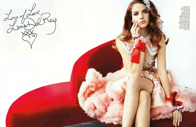 Lana Del Rey for Vogue UK March 2012