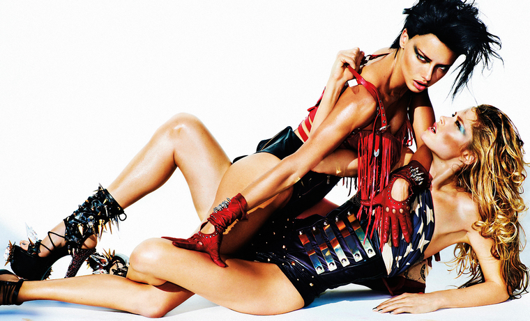 Adriana Lima & Doutzen Kroes  for V Magazine Spring 2012