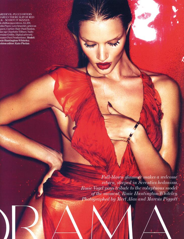 Rosie Huntington-Whiteley for Vogue UK March 2011
