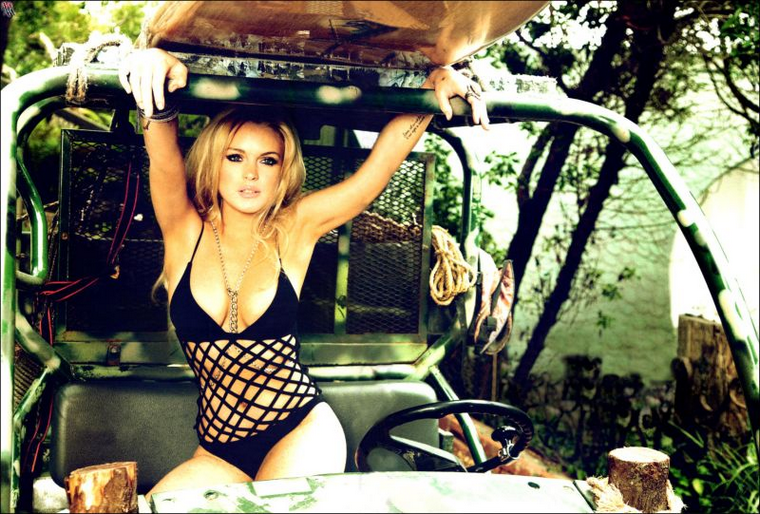 Lindsay Lohan for GQ Germany August 2010