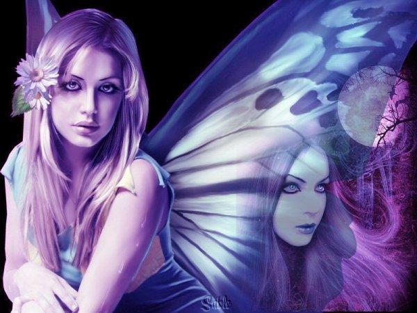 Fées avec aile de papillon