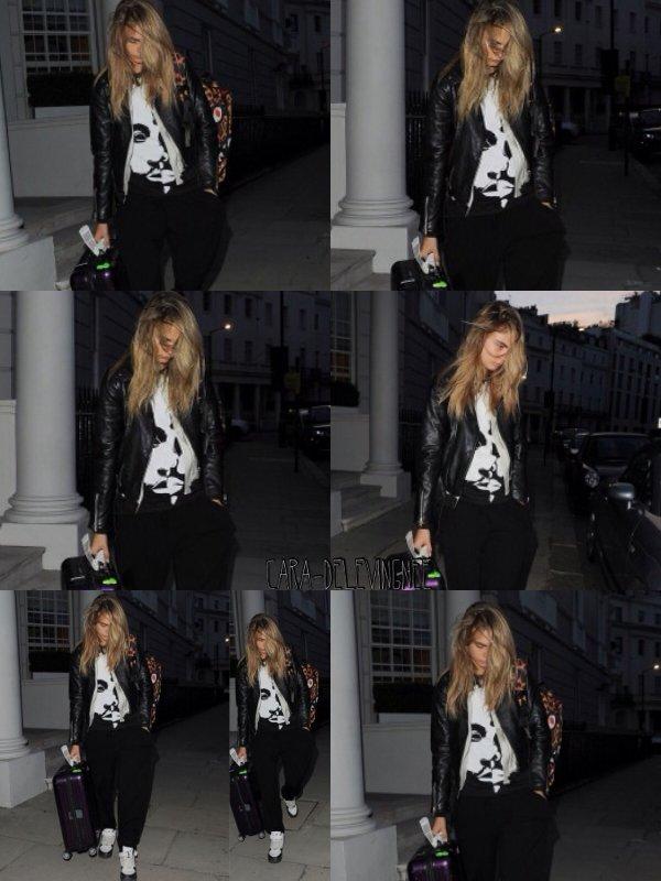 ••• CANDIDS, Le 27 juin, Cara à été vue à Londres.