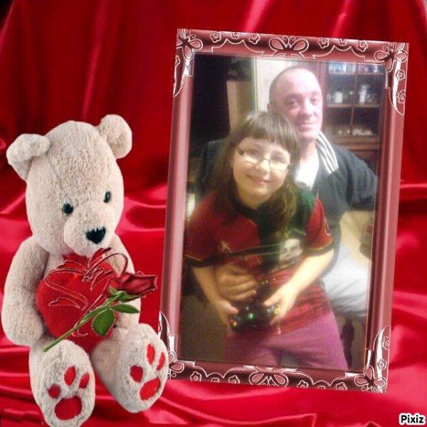 mon homme avec ma fille