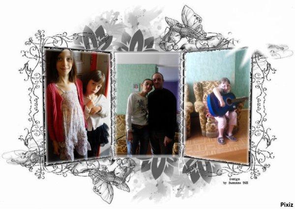 jullie jutine et moi et mon homme et ma fille