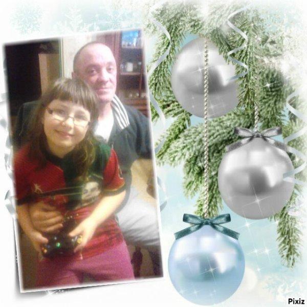 mon homme et ma fille avec son pere