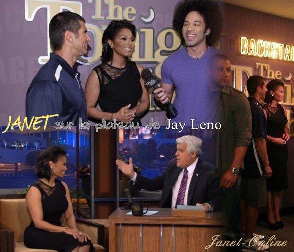 Nouvelle photo pour Black Glama + Janet sur le plateau de Jay Leno