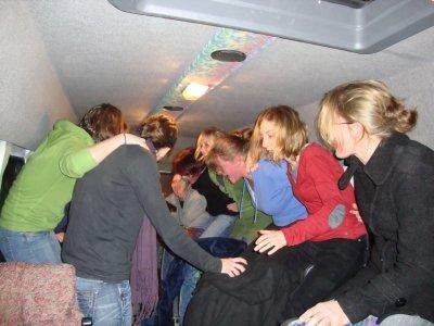 retour en bus après la victoire