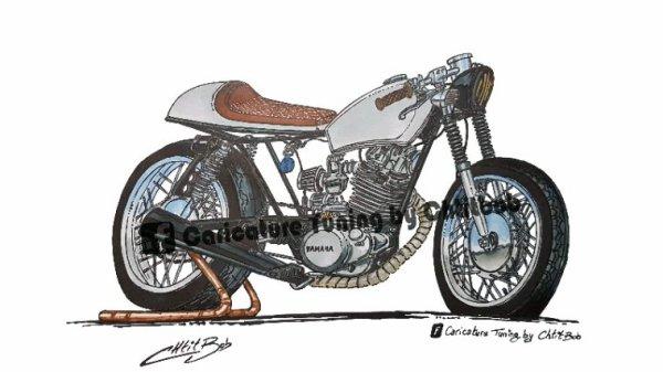 Yamaha 125 SR café racer