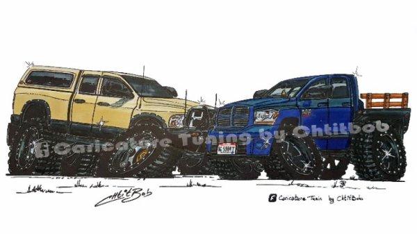 Duo de Dodge Ram