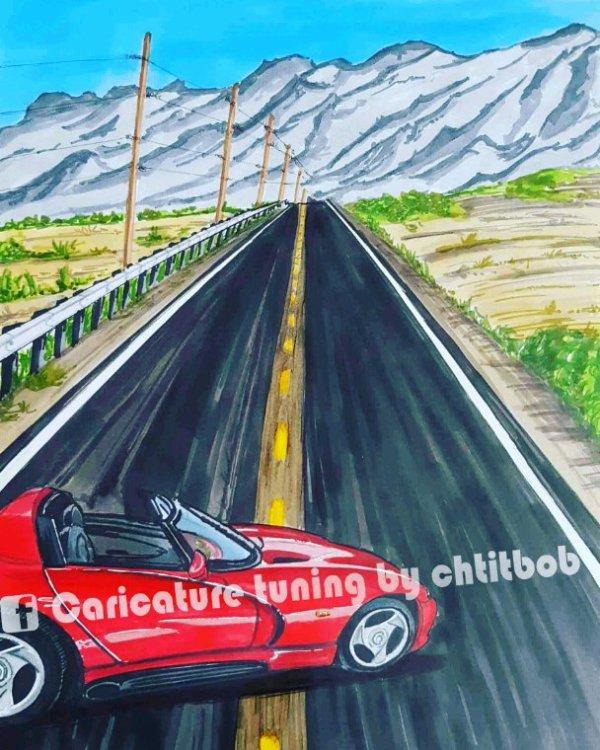 Dodge Viper / route 66