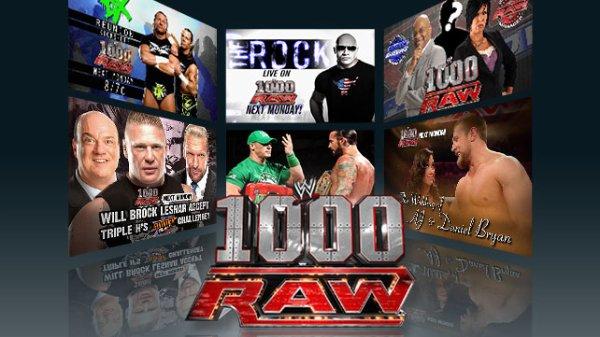 1000eme épisode de Raw en live !
