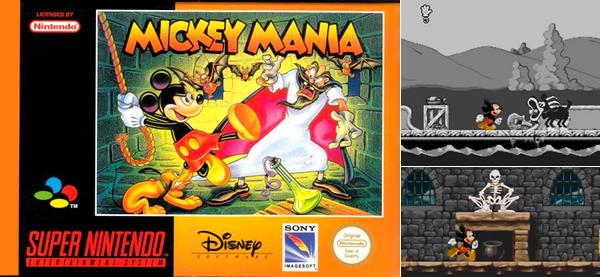 Super Nintendo : Mickey Mania