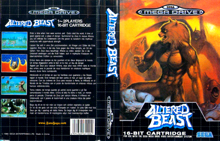 Megadrive : Altered Beast