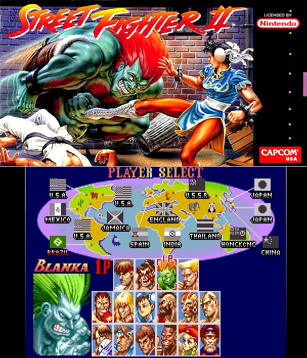 Super Nintendo : Street Fighter II : The World Warrior