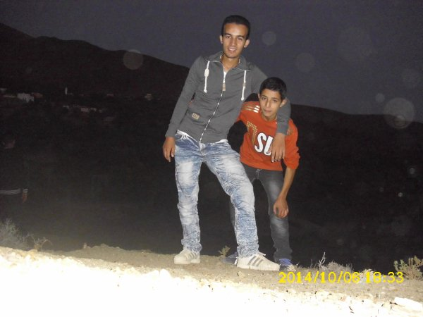 with my Aunt's son