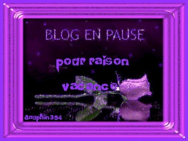 je mets mon blog en p@use pour une sem@ineet @+***gros bisous*cl@udette***