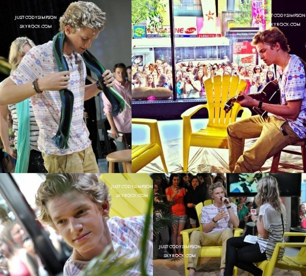 ____ 19 Juin 2012 : Cody à Musique Plus. + Vidéo de Wish U Were Here à YTV. ++ Photoshoot pour Dolly. +++ Photos Instagram. ____