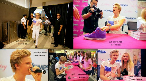 ____ Photos de la séance d'autographe pour Pastry Shoes. + Revivez le Ustream de Cody & Alli.++ Cody sur abc4.   ____