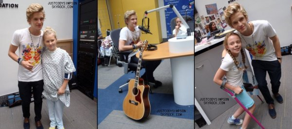 ____ Cody à la rencontre d'enfants malades. + Vidéos du concert du 19 Août.++ Cody à la radio BLI.   ____