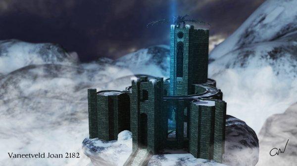 Académie Fortdhiver Skyrim modélisation 3D sur Maya