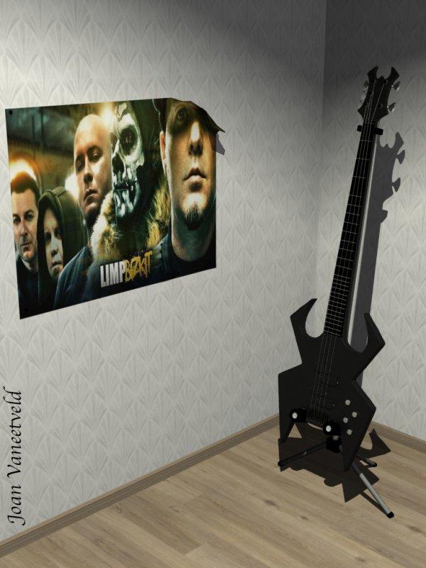 Guitar modélisation 3D sur Maya