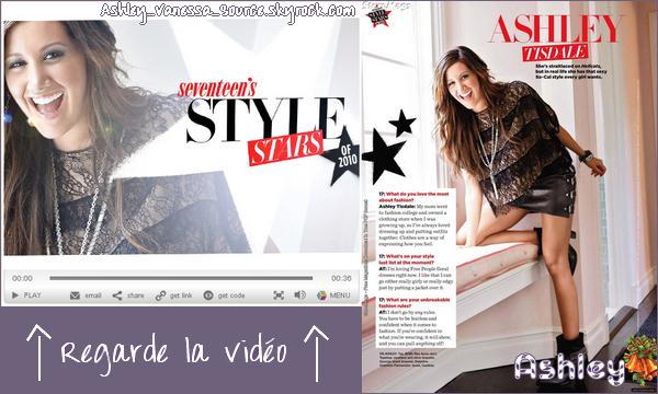 --       ● Vanessa célèbre son anniversaire le 14 décembre à Las Vegas ●       --     ● Ashley apparaît dans le magazine Seventeen de Décembre ●   --