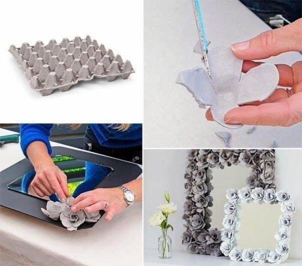 Récupérer les emballage de vos oeufs pour faire des fleurs original