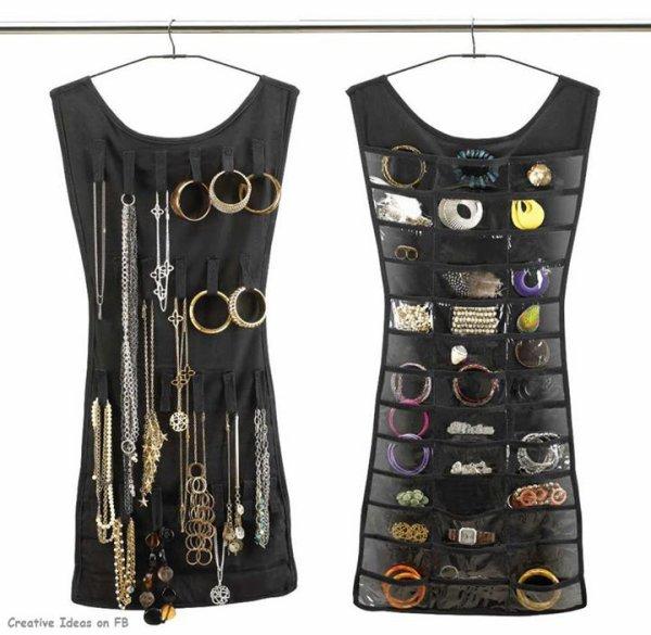Avec une vieille robe, ou tunique créer un rangement de bijoux original