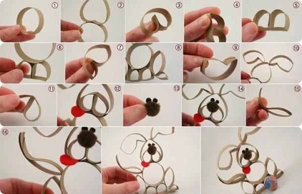 Bricoler avec des rouleau de papier wc créer des animaux original