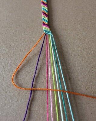 DIY - Bracelet brésilien en diagonales. [ F a c i l e ]