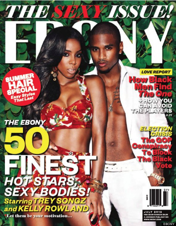 Trey Songz et  Kelly Rowland en couverture d' Ebony Magazine