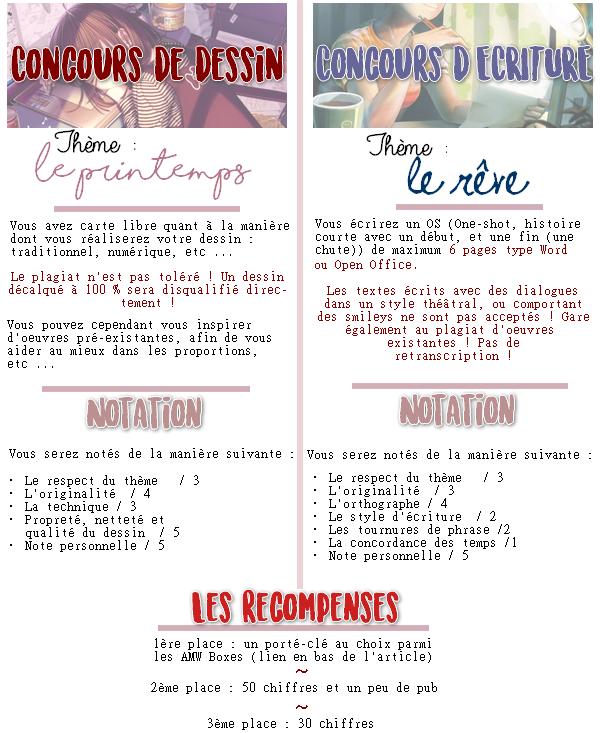 Concours de dessin et d'OS ! #3 ~   • REVE & PRINTEMPS •