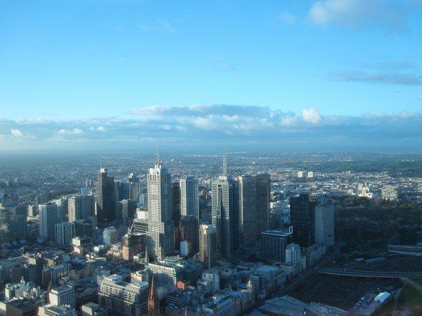 Vue depuis le 88ème étage de la Eureka Tower