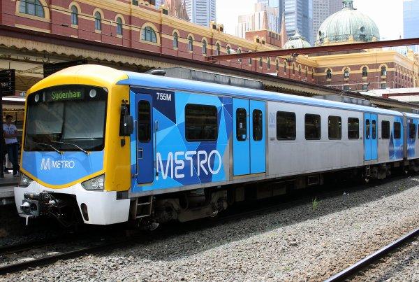 Le Train de banlieue de Melbourne