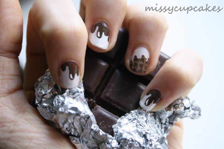 Nail Art chocolat