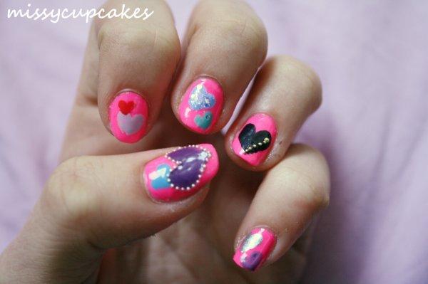 Nail Art Saint Valentin <3