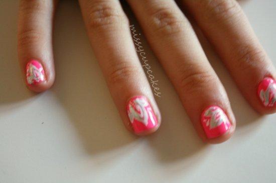 Nail Art feuilles