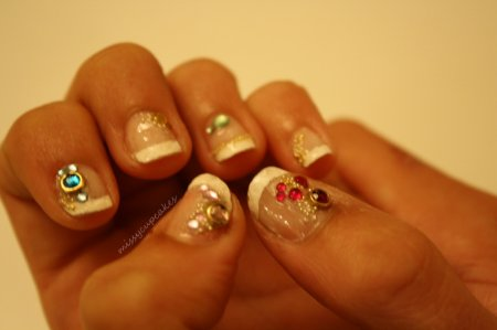 Nail Art french + strass